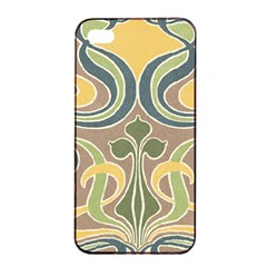 Art Nouveau Apple Iphone 4/4s Seamless Case (black) by 8fugoso