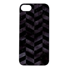 Chevron1 Black Marble & Black Watercolor Apple Iphone 5s/ Se Hardshell Case by trendistuff