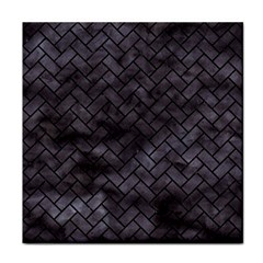 Brick2 Black Marble & Black Watercolor (r) Tile Coasters by trendistuff