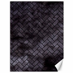 Brick2 Black Marble & Black Watercolor (r) Canvas 36  X 48   by trendistuff