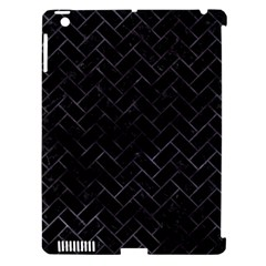 Brick2 Black Marble & Black Watercolor Apple Ipad 3/4 Hardshell Case (compatible With Smart Cover) by trendistuff