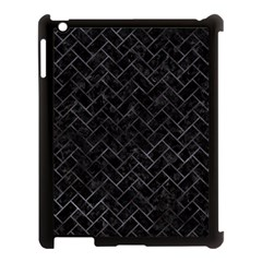 Brick2 Black Marble & Black Watercolor Apple Ipad 3/4 Case (black)