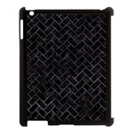 BRICK2 BLACK MARBLE & BLACK WATERCOLOR Apple iPad 3/4 Case (Black) Front