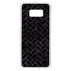 Brick2 Black Marble & Black Watercolor Samsung Galaxy S8 Plus White Seamless Case by trendistuff