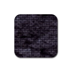 Brick1 Black Marble & Black Watercolor (r) Rubber Square Coaster (4 Pack)  by trendistuff
