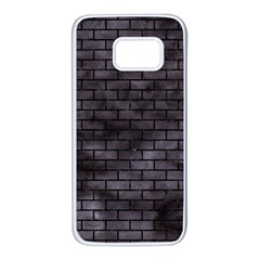 Brick1 Black Marble & Black Watercolor (r) Samsung Galaxy S7 White Seamless Case by trendistuff