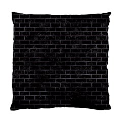 Brick1 Black Marble & Black Watercolor Standard Cushion Case (two Sides) by trendistuff