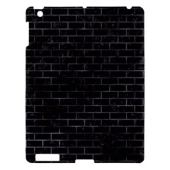 Brick1 Black Marble & Black Watercolor Apple Ipad 3/4 Hardshell Case by trendistuff