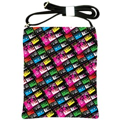 Pattern Colorfulcassettes Icreate Shoulder Sling Bags by iCreate
