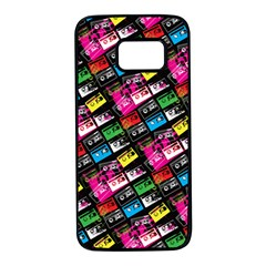 Pattern Colorfulcassettes Icreate Samsung Galaxy S7 Black Seamless Case