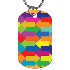 Arrow Rainbow Orange Blue Yellow Red Purple Green Dog Tag (one Side) by Mariart
