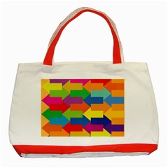 Arrow Rainbow Orange Blue Yellow Red Purple Green Classic Tote Bag (red) by Mariart