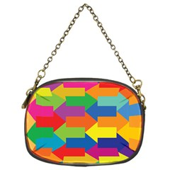 Arrow Rainbow Orange Blue Yellow Red Purple Green Chain Purses (two Sides)  by Mariart