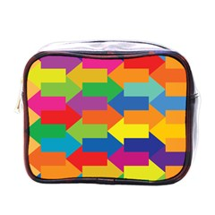 Arrow Rainbow Orange Blue Yellow Red Purple Green Mini Toiletries Bags by Mariart
