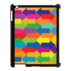 Arrow Rainbow Orange Blue Yellow Red Purple Green Apple Ipad 3/4 Case (black) by Mariart