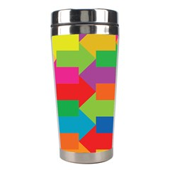 Arrow Rainbow Orange Blue Yellow Red Purple Green Stainless Steel Travel Tumblers by Mariart