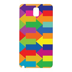Arrow Rainbow Orange Blue Yellow Red Purple Green Samsung Galaxy Note 3 N9005 Hardshell Back Case by Mariart