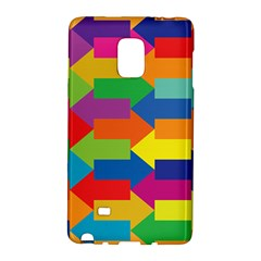Arrow Rainbow Orange Blue Yellow Red Purple Green Galaxy Note Edge by Mariart