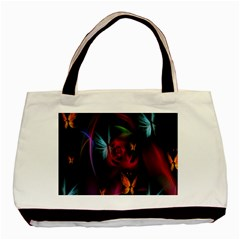 Beautiful Butterflies Rainbow Space Basic Tote Bag by Mariart