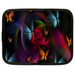 Beautiful Butterflies Rainbow Space Netbook Case (large) by Mariart