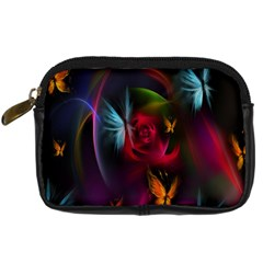 Beautiful Butterflies Rainbow Space Digital Camera Cases by Mariart