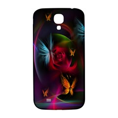 Beautiful Butterflies Rainbow Space Samsung Galaxy S4 I9500/i9505  Hardshell Back Case by Mariart