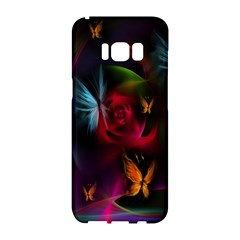 Beautiful Butterflies Rainbow Space Samsung Galaxy S8 Hardshell Case  by Mariart