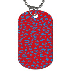 Blue Red Space Galaxy Dog Tag (one Side) by Mariart
