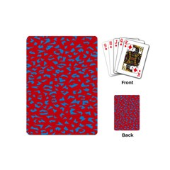 Blue Red Space Galaxy Playing Cards (mini)  by Mariart