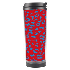 Blue Red Space Galaxy Travel Tumbler by Mariart