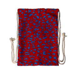 Blue Red Space Galaxy Drawstring Bag (small) by Mariart