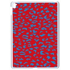 Blue Red Space Galaxy Apple Ipad Pro 9 7   White Seamless Case