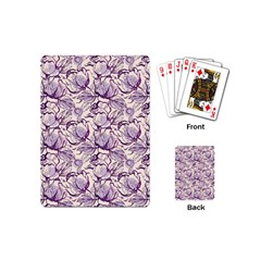 Vegetable Cabbage Purple Flower Playing Cards (mini)  by Mariart