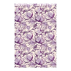 Vegetable Cabbage Purple Flower Shower Curtain 48  X 72  (small)  by Mariart