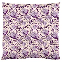 Vegetable Cabbage Purple Flower Large Cushion Case (two Sides)
