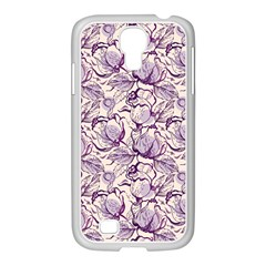 Vegetable Cabbage Purple Flower Samsung Galaxy S4 I9500/ I9505 Case (white) by Mariart