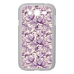 Vegetable Cabbage Purple Flower Samsung Galaxy Grand Duos I9082 Case (white) by Mariart