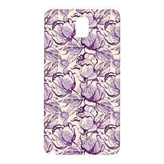 Vegetable Cabbage Purple Flower Samsung Galaxy Note 3 N9005 Hardshell Back Case by Mariart