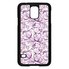 Vegetable Cabbage Purple Flower Samsung Galaxy S5 Case (black) by Mariart