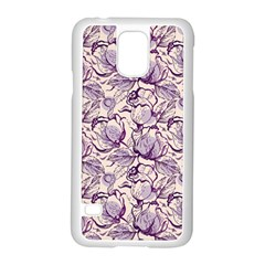 Vegetable Cabbage Purple Flower Samsung Galaxy S5 Case (white) by Mariart