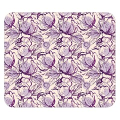 Vegetable Cabbage Purple Flower Double Sided Flano Blanket (small)  by Mariart
