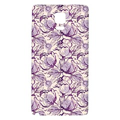 Vegetable Cabbage Purple Flower Galaxy Note 4 Back Case by Mariart
