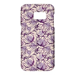 Vegetable Cabbage Purple Flower Samsung Galaxy S7 Hardshell Case  by Mariart