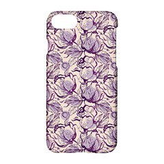 Vegetable Cabbage Purple Flower Apple Iphone 7 Hardshell Case by Mariart