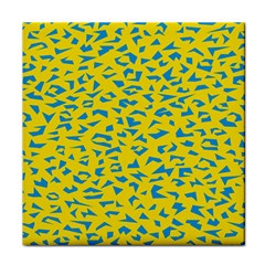 Blue Yellow Space Galaxy Face Towel by Mariart