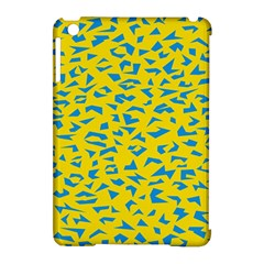 Blue Yellow Space Galaxy Apple Ipad Mini Hardshell Case (compatible With Smart Cover) by Mariart