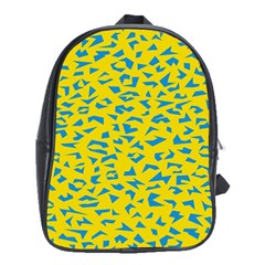 Blue Yellow Space Galaxy School Bag (xl) by Mariart