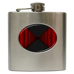 Black Red Door Hip Flask (6 Oz) by Mariart