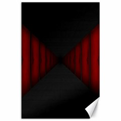 Black Red Door Canvas 24  X 36  by Mariart