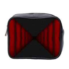 Black Red Door Mini Toiletries Bag 2 Side by Mariart